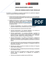 Comunicado Conjunto Pase Vehicular - 29 de Abril 2020