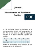Ejercicios Determinacion de Parametros Cineticos