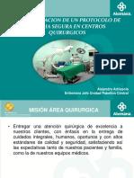Implementacion de Protocolo Seguro en centro Quirurgicos