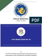 IATF Resolution No 30