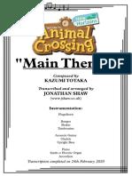 Main Theme - Full Score Animal Crossing