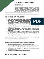 POLITICA DE COOKIE model