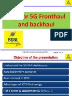 OTN for 5G backhaul Final