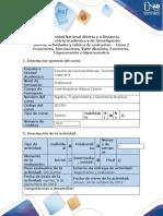 Guía de actividades y rubrica de evaluación - Tarea 2 - Desarrolar ejercicios Unidad 1 y 2.docx