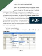 interpretation Cluster analysis