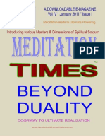 Meditation Times January 2011