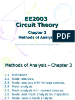 Electric Circuits Methods of Analysis
