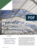 Winter Maintenance for Greenhouse Equipment