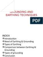 GROUNDING AND EARTHING TECHNIQUES-2