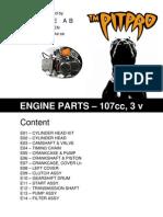 PITPRO 107cc 3 valve Parts list