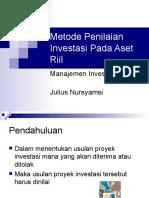 Metode Penilaian Investasi Pada Aset Riil