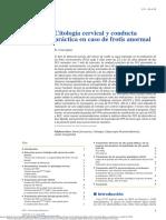 Citología cervical y conducta práctica en caso de frotis anormal