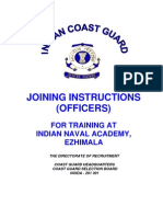 Joining Instructions INA