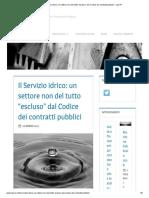 """Il Servizio idrico_ un settore non del tutto """"escluso"""" dal Codice dei contratti pubblici – Lab-IP (1).pdf"""