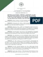 Omnibus guidelines on COVID-19 quarantine measures