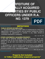 Forfeiture of Illegally Acquired Properties by Public Officers
