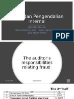 Pertemuan 9 Tanggung Jawab Auditor atas Fraud