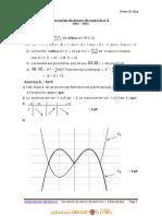 Devoir Corrigé de Contrôle N°1 - Math produit scalaire & généralité sur les fonction & continuité - 3ème Sciences exp (2010-2011) Mr Hafsi salem