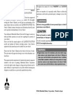 Mitsubishi Lancer Evolution  Owner's Manual