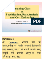 A 1. Class Specification,Rate Analysis & Cost Estimation Rev.