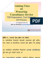 A5. Class Method to procure Consultancy Service