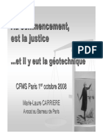 Justice et géotechnique