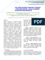 COLLABORATIVE OPEN SOURCE AIRCRAFT DESIGN FRAMEWORK FOR EDUCATION - AGILE ACADEMY INITIATIVES AND RESULTS
