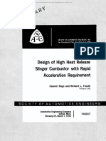 Design of High Heat Release Slinger Combustor with Rapid Acceleration Requirement