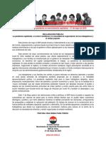 01may2020 - Comité Central - La Pandemia Capitalista, El Control Neoliberal y La Necesidad de Organización de Los Trabajadores y El Campo Popular