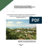 Conservação da Cobertura Vegetal como Componente da Preservação dos Sítios Históricos de Olinda