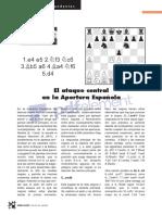 El ataque central en la apertura Española