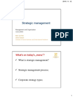 8 Strategic management
