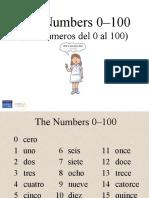 cardinal numbers 0-100