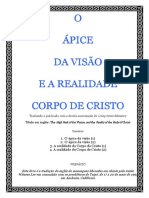 O ÁPICE DA VISÃO E A REALIDADE DO CORPO DE CRISTO