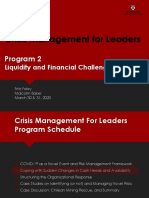 HBS Crisis Management for Leaders Program2 Liquidity and Financial Challenges Mar2020
