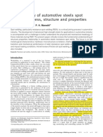 Critical review of automotive steels spot welding  process structure and properties