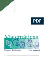 TALLER DE MATEMÁTICAS GRADO CUARTO