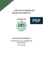 STATISTICS ON SCHEDULED BANKS IN PAKISTAN