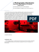 (DARK ROOM PROCEDURE AND FILM PROCESSING) Forensic Photography.docx