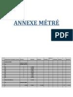 ANNEXE MÉTRÉ