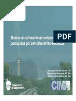 Modelo de Estimación de Emisiones Producidas Por Centrales Termo-eléctricas