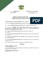 ARRETE SIIC - REJETS DES EMISSIONS