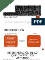 REPORTE DE LECTURA LA PRÁCTICA DOCENTE