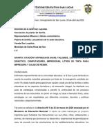 carta dotaciòn San Luquitas.