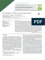 PAPER II Monnerat, F., Dias, J., & Alves, M. J. (2019). Fleet Management a Vehicle and Driver Assignment Model. European Journal of Operational Research.