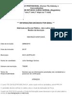 ___ Secretaria da Educação do Estado Rio Grande do Sul inscrição___