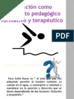LA NATACION COMO ELEMENTO TERAPEUTICO, FORMATIVO Y PEDAGOGICO - PLATAFORMA