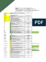 Material list Passenger Terminal -Qiymetsiz
