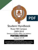 Printable Rose Hill Student Handbook 8.27.09