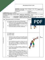 PROGRAMACIÓN DE CLASE-BALONCESTO